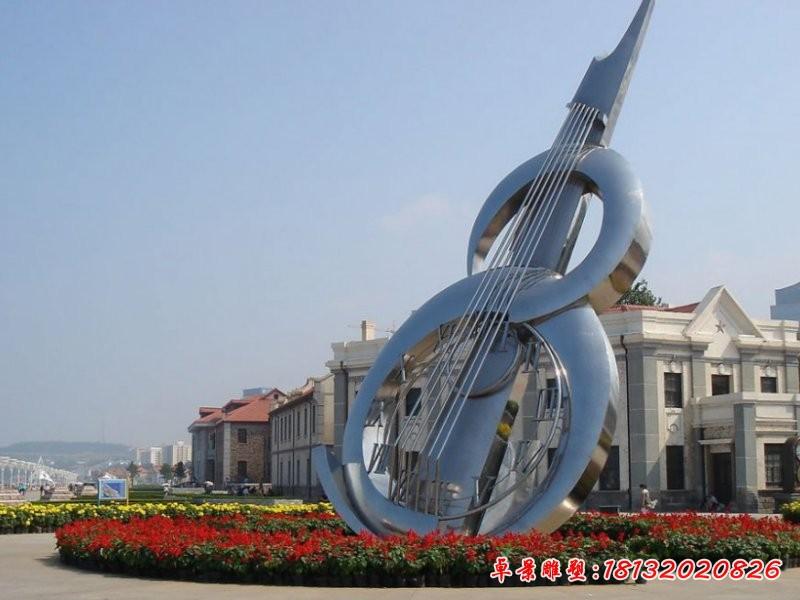 广场抽象大提琴